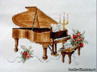 Схема для вышивки крестом Пианино