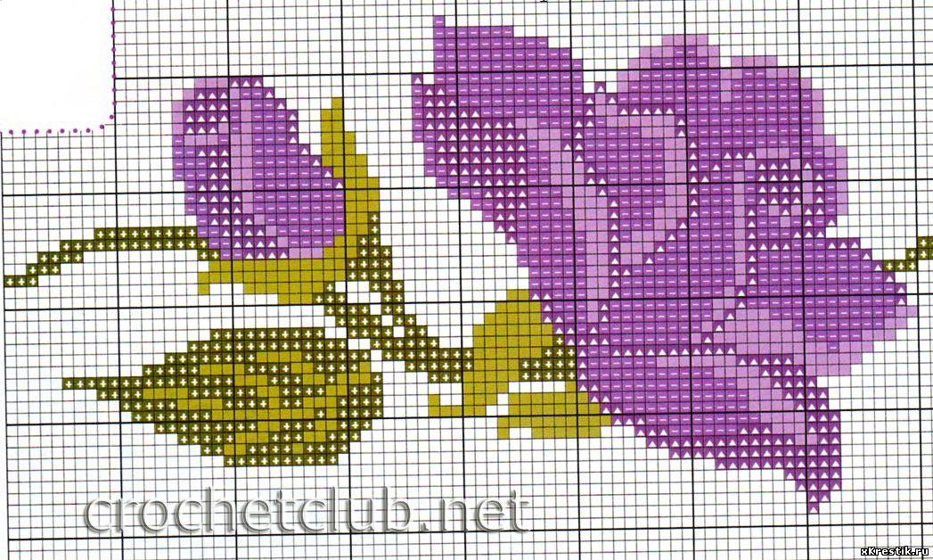 Вышивка один большой цветок схема бесплатно