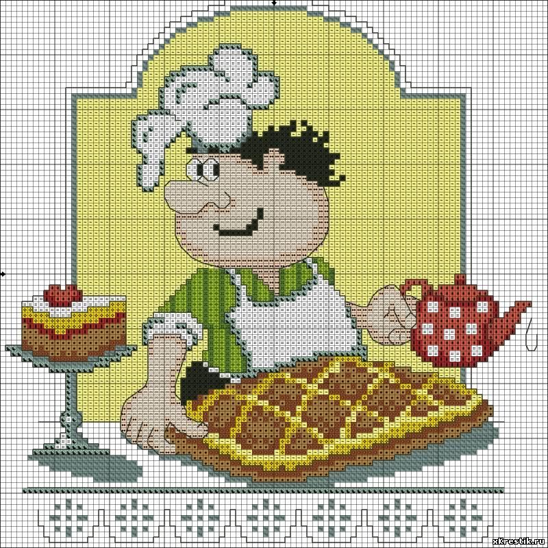 Бесплатные схемы для вышивки крестиком для кухни бесплатно