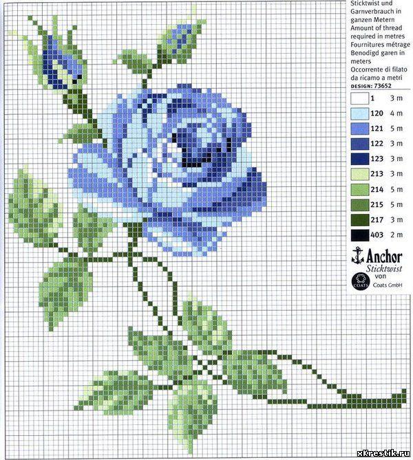 Вышивки крестиком схемы цветочки