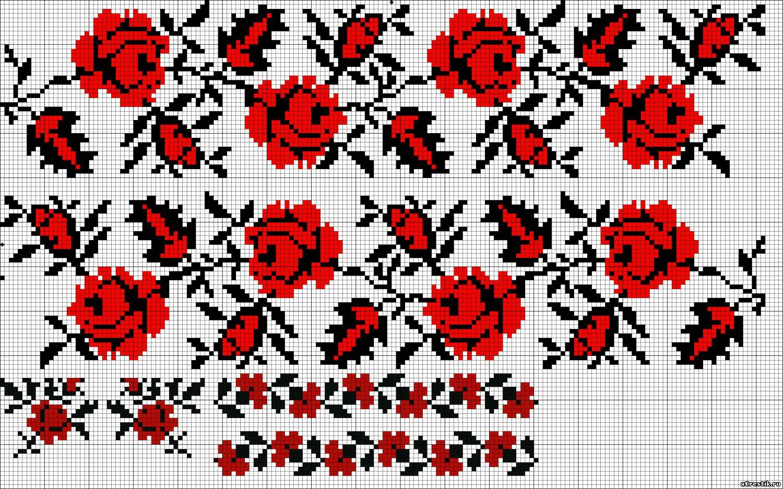 Узоры вышивки для платья крестиком